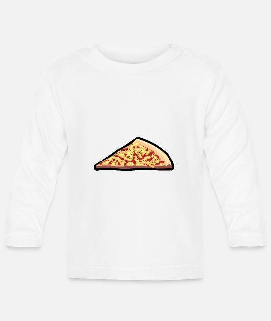 Turin Baby Long-Sleeved Shirts - pizza pizzeria food food restaurant61 - Baby Longsleeve Shirt white
