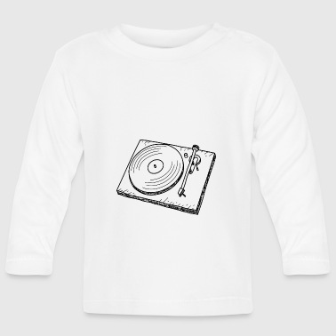 Turntable DJ Retro Music - Långärmad T-shirt baby