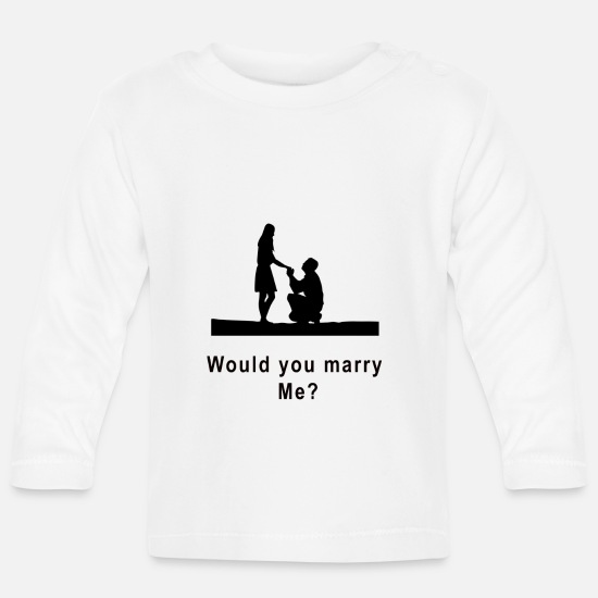 Marriage Equality Baby Clothes - marriage proposal - Baby Longsleeve Shirt white