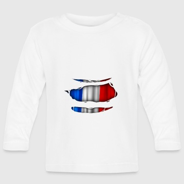 France flag torn 017 - Baby Long Sleeve T-Shirt