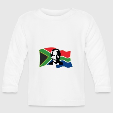mandela stencil flag - Baby Long Sleeve T-Shirt