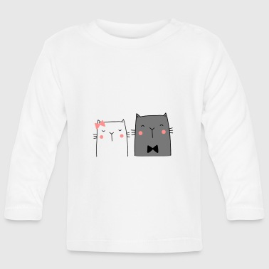 Cats Couple Couple Couple Wedding Couple Wedding - Baby Long Sleeve T-Shirt