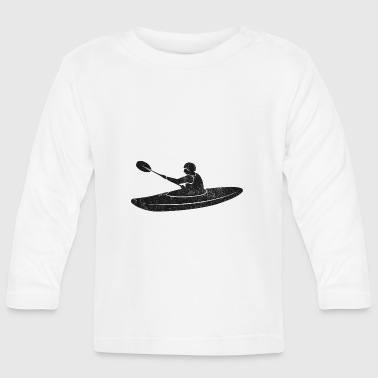 Kayak whitewater paddle vintage - Baby Long Sleeve T-Shirt