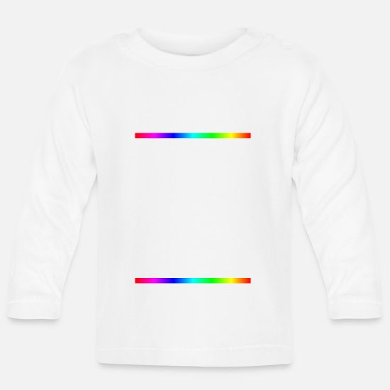 Love Baby Clothes - Equality is not a sin - Baby Longsleeve Shirt white