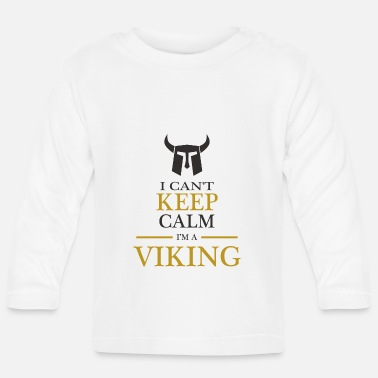Viking Viking helmet warrior Germane Thor Odin north - Baby Longsleeve Shirt