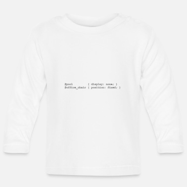 coding people outlines - Baby Langarmshirt