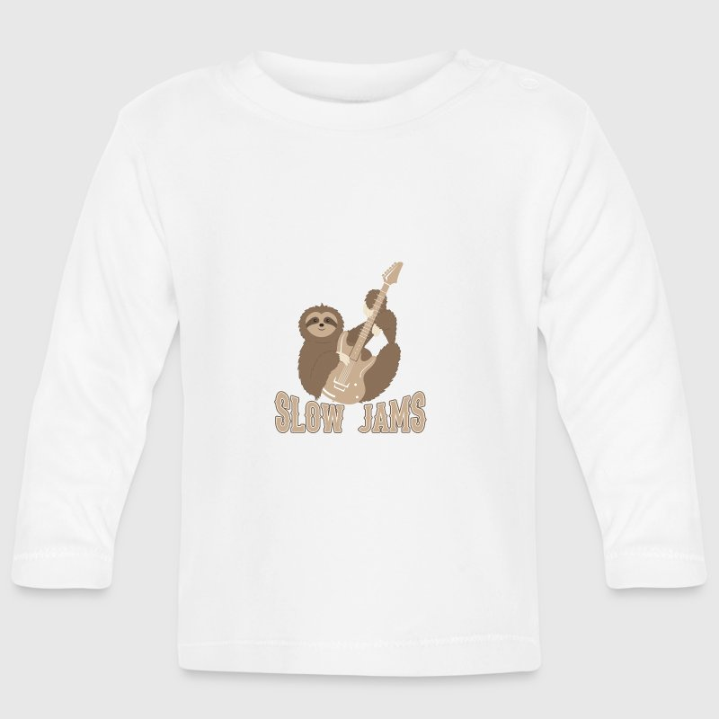 Slow Jams - fun bass guitar sloth gift - Baby Long Sleeve T-Shirt