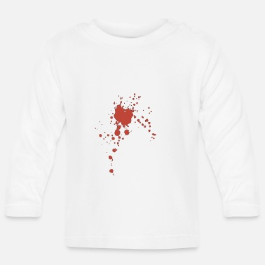 Blood Blob Blood splashes of blob stains - Baby Longsleeve Shirt