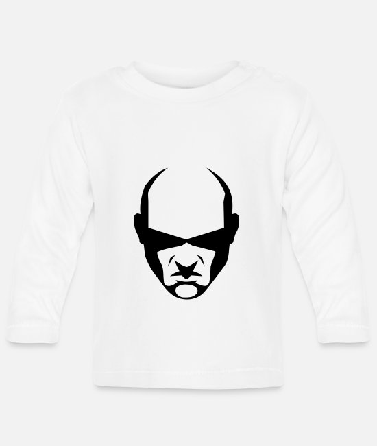 Boss Baby Long-Sleeved Shirts - balded head - Baby Longsleeve Shirt white