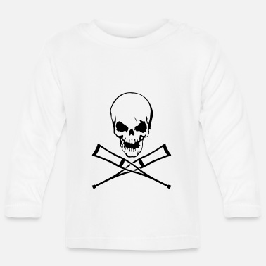 Crutches Skull with crutches - Baby Longsleeve Shirt