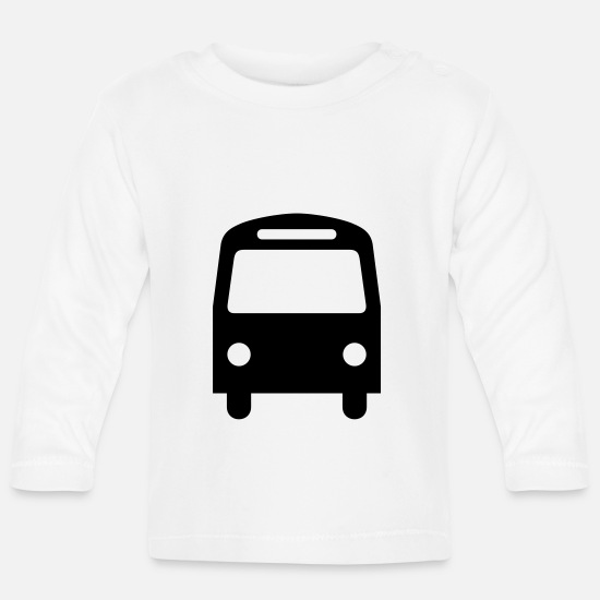 Bus Baby Clothes - bus,vehicle,mode of transport - Baby Longsleeve Shirt white