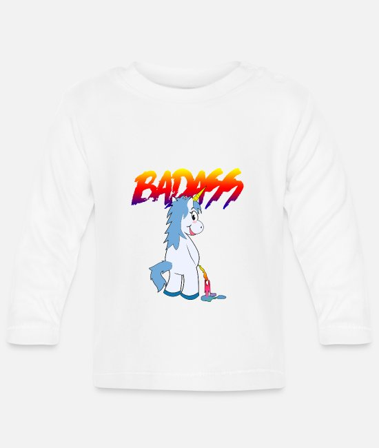 Silly Baby Long-Sleeved Shirts - badass2 - Baby Longsleeve Shirt white