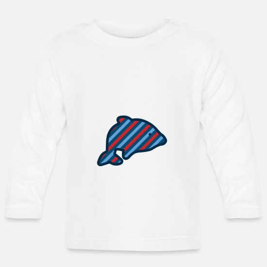 Shark Baby Clothes - colorful fish rainbow water dolphin shark whale - Baby Longsleeve Shirt white
