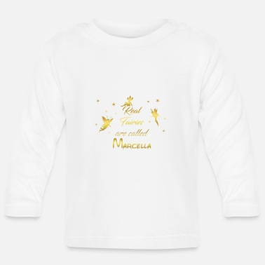 Marcella fee fairies fairy vorname name Marcella - Baby Langarmshirt