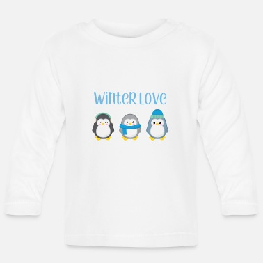 Vinter Penguin - Vinter - gave - Søt - Penguins - Langarmet baby T-skjorte