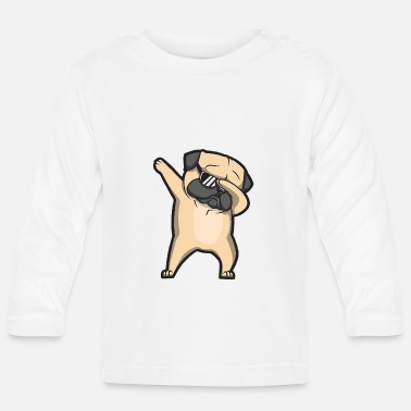 Cats And Dogs Collection dabbing pug - Baby Longsleeve Shirt