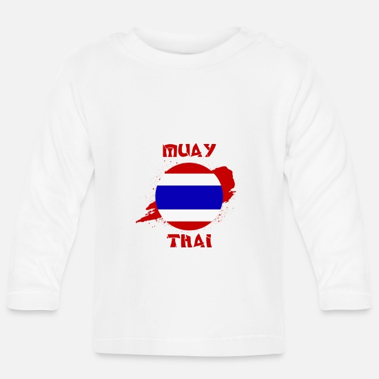 Muay Thai Baby Clothes - Muay Thai - Thailand combat sport - poison - Baby Longsleeve Shirt white