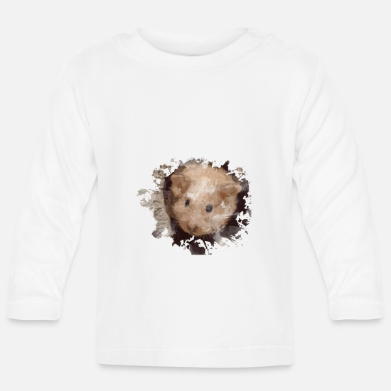 Hamster Baby Clothes - hamster - Baby Longsleeve Shirt white