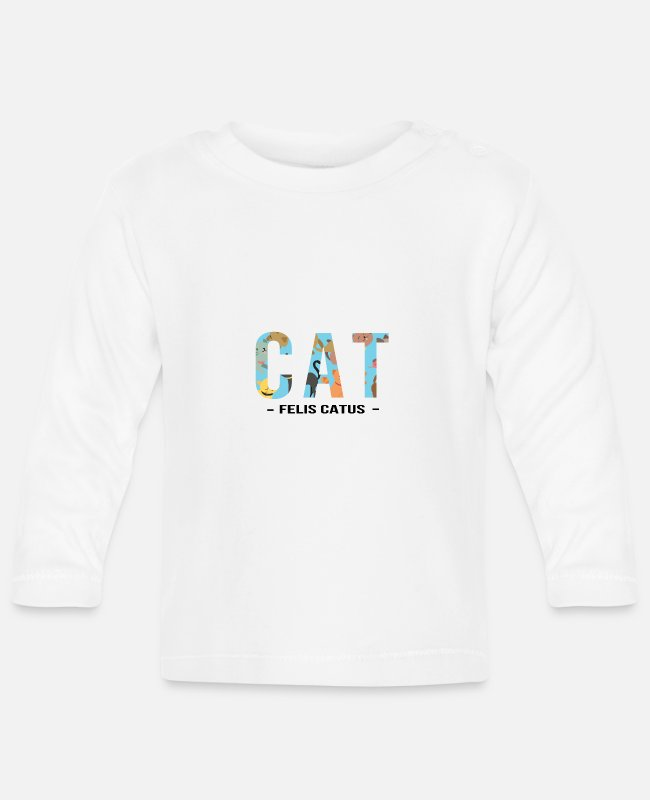 Heart Baby Long-Sleeved Shirts - FELIS CATUS - cat saying - Baby Longsleeve Shirt white