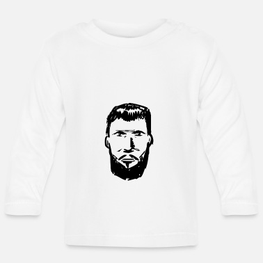 Beard Bearded bearded man bearded bearded art - Baby Longsleeve Shirt