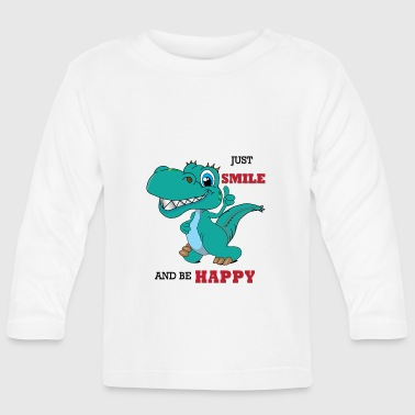 Primeval Times Dinosaur happy in primeval gift - Baby Long Sleeve T-Shirt