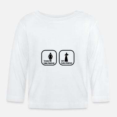 2fa5474cd Sol tu novia mi novia violín - Camiseta de manga larga bebé