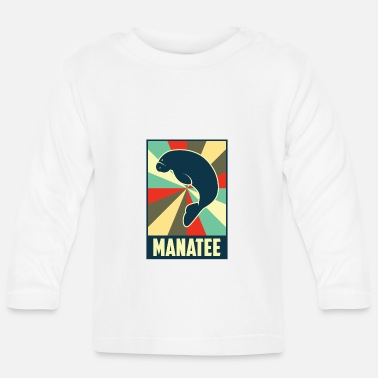 Manatee Manatee Manatee Manatee Vintage Retro Style - Baby Long Sleeve T-Shirt