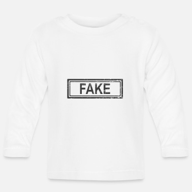 Fake Fake Fake News Fake Press Fake Media T Shirt - Långärmad T-shirt baby