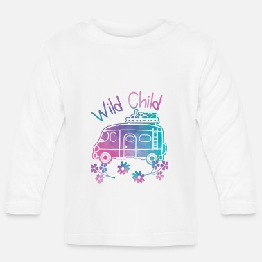 Child Wild Child Watercolor Hippie Movement Camping - Baby Longsleeve Shirt