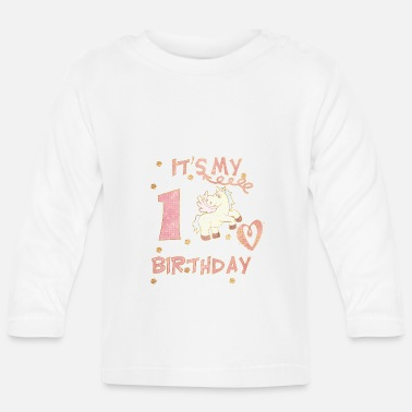 Birthday my first birthday ... for girls - Baby Longsleeve Shirt