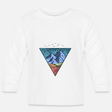 Nature Mountains Fields Sky Blue Outdoor Camping - Långärmad baby T-shirt