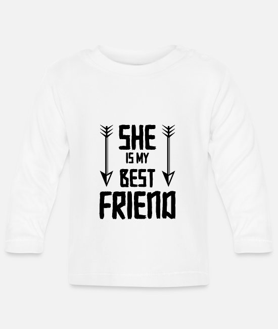 Love Baby Long-Sleeved Shirts - friends - Baby Longsleeve Shirt white