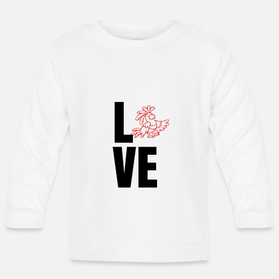 Love Baby Clothes - Love love gift idea - Baby Longsleeve Shirt white