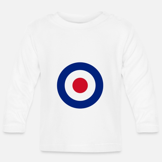 Royal Baby Clothes - Target, roundel - Baby Longsleeve Shirt white