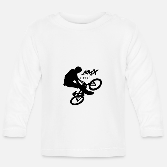Birthday Baby Clothes - BMX LIfe - Baby Longsleeve Shirt white