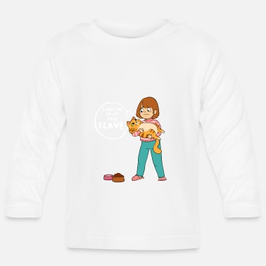 Slave-female Slave food feed cat feeding - Baby Longsleeve Shirt