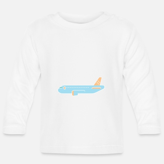 Fight Baby Clothes - Fly - Baby Longsleeve Shirt white