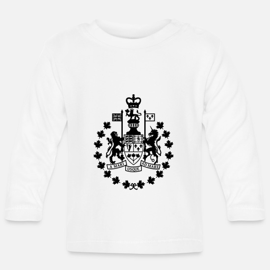 Canadian Armed Forces Baby Clothes - Canadian Forces Chief Warrant Officer CANADA Army - Baby Longsleeve Shirt white