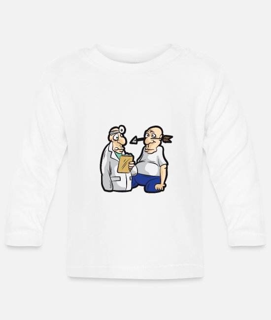 Arrow Baby Long-Sleeved Shirts - Funny archer humor joke saying doctor humor - Baby Longsleeve Shirt white