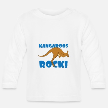 Cute Country T Kangaroo Lover Design - Kangaroos Rock! T-Shirt - Baby Langarmshirt