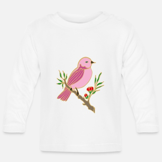 Gift Idea Baby Clothes - bird - Baby Longsleeve Shirt white