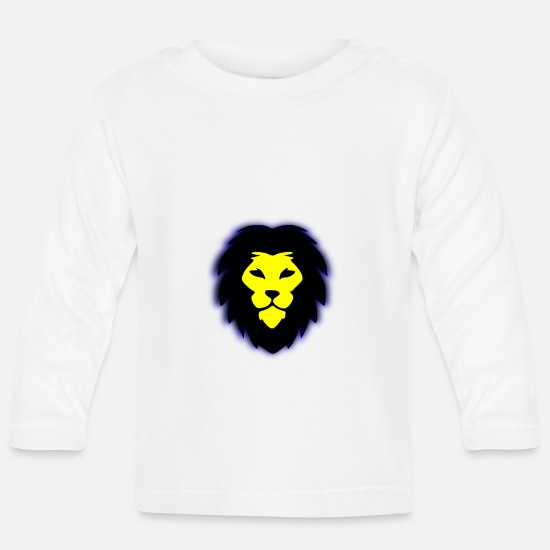Stylish Baby Clothes - The lion - Baby Longsleeve Shirt white