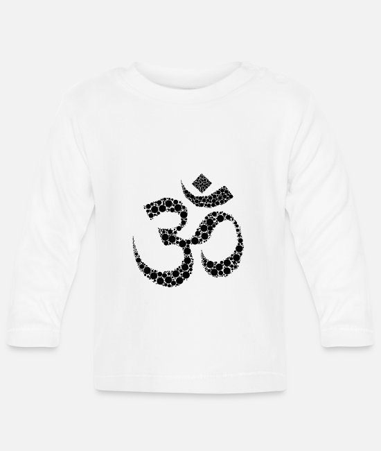 Buddhism Baby Long-Sleeved Shirts - Om meditation gift - Baby Longsleeve Shirt white