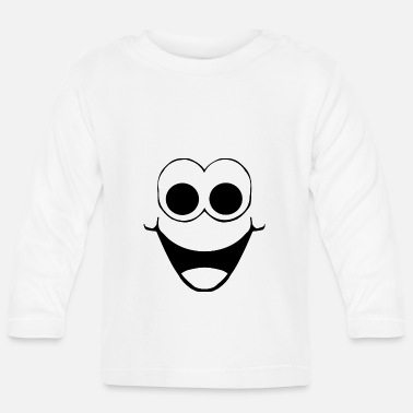 Happy Smiling Cheerful Face Design Fun Gift - Baby Longsleeve Shirt