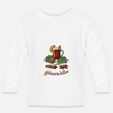 Jul Mulled wine killer jul - Langærmet babyshirt