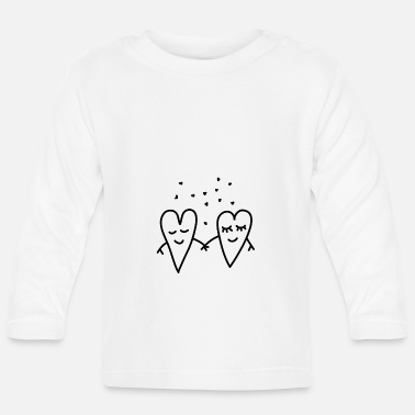 Lovely Valentines Day Love Hearts Couple Relationship girlfriend - Baby Longsleeve Shirt