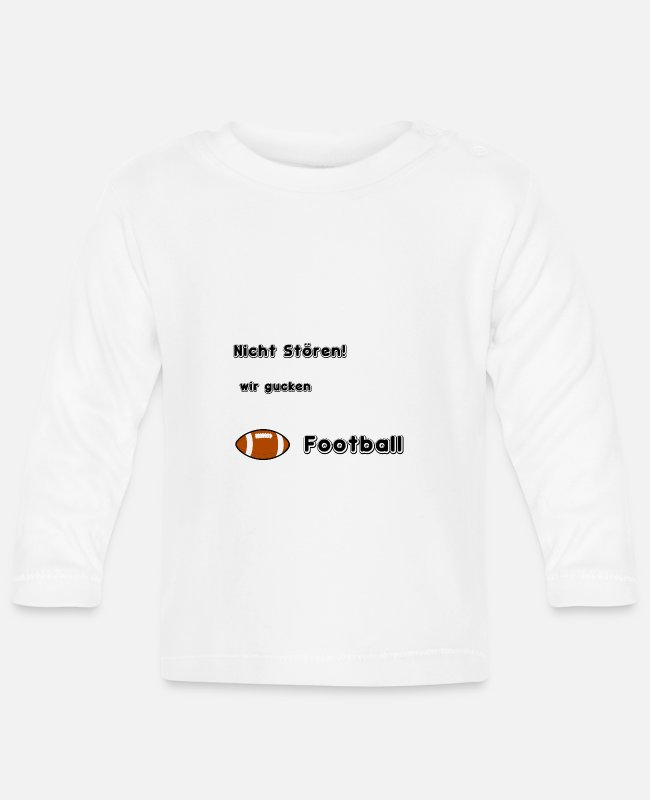 Stadium Baby Long-Sleeved Shirts - Football Superbowl Los Angelos America Rugby - Baby Longsleeve Shirt white