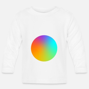 Multi Coloured Gradient Circle Multi-Coloured - Baby Longsleeve Shirt