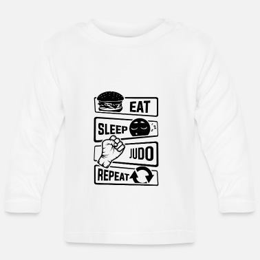 Minimum Eat Sleep Judo Repeat - Martial forsvar - Langærmet babyshirt