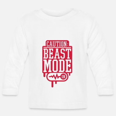 Aggressive caution_beast_mode_on_2_f2 - Baby Longsleeve Shirt
